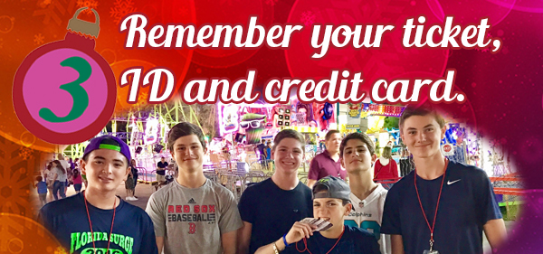 Season Passholder tip 3: Remember Your ticket, ID and Credit Card.